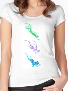 Playful Chase Women's Fitted Scoop T-Shirt