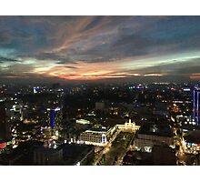 Saigon night sky from hotel Photographic Print