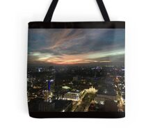 Saigon night sky from hotel Tote Bag