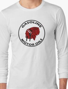Red Indian Gasoline vintage sign reproduction Long Sleeve T-Shirt