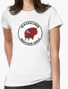 Red Indian Gasoline vintage sign reproduction Womens Fitted T-Shirt