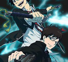 Blue Exorcist-Rin & Yukio by legendofsarah