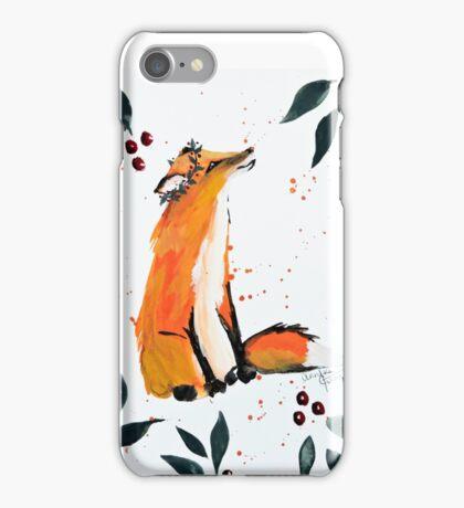 Holly Jolly Fox iPhone Case/Skin