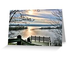 Sunset on the Mississippi (Eagle Lookout, Savanna IL) Greeting Card
