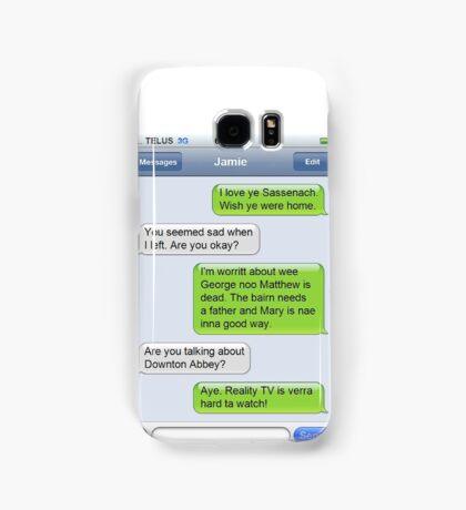 Outlander Today Jamie & Claire Texts: Best Of Samsung Galaxy Case/Skin