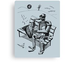 Robot Sax Canvas Print