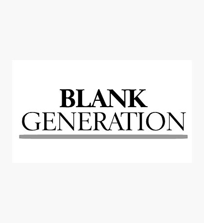 Rock Punk Generation Revoution Photographic Print