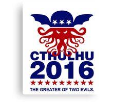 Vote Cthulhu 2016 Canvas Print
