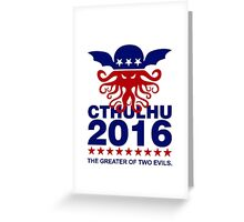 Vote Cthulhu 2016 Greeting Card