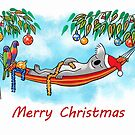 Koala Relaxing Hammock - Merry Christmas by JumpingKangaroo