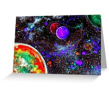 Super Intense Galaxy Greeting Card