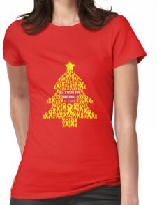 Christmas Cure - Yellow Womens Fitted T-Shirt