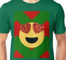 christmas heart eye emoji  Unisex T-Shirt