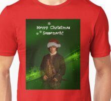 Merry Christmas Sassenach\Jamie in green Unisex T-Shirt
