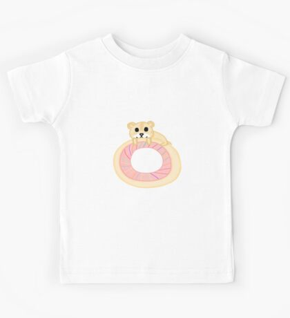Kawaii Hamster on a Donut Kids Tee