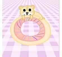 Kawaii Hamster on a Donut Photographic Print