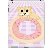 Kawaii Hamster on a Donut iPad Case/Skin