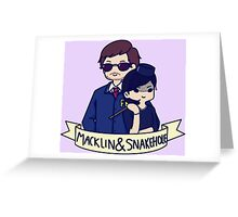 Burt Macklin and Janet Snakehole Greeting Card