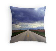 Two Lanes - No Waiting Throw Pillow