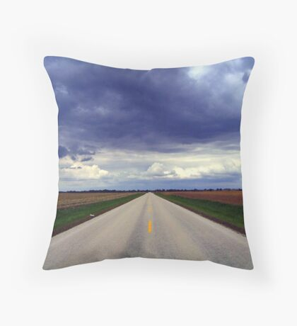 Two Lanes - No Waiting Throw Pillow