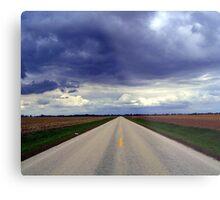 Two Lanes - No Waiting Metal Print