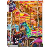 View of Carousel with horses on a carnival Merry Go Round iPad Case/Skin