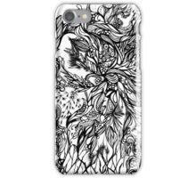 Zen Doodle 2A Black Ink iPhone Case/Skin