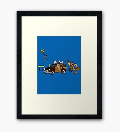 Getting there is half the fun come share it with me Framed Print
