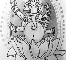 Ganesh drawing by Punkface