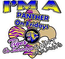 I'm A Panther On Fridays, Tiger On Saturdays, Saint On Sundays Photographic Print