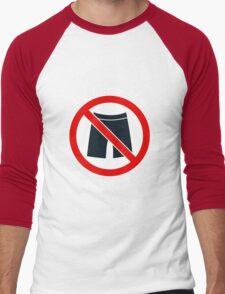 My home is a no pants zone Men's Baseball ¾ T-Shirt