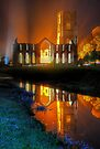 Fountains Abbey Yorkshire Floodlit - 1 by Colin  Williams Photography