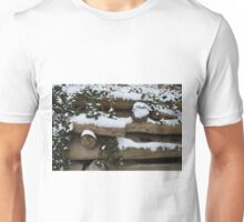Snow covered wall in Austria Unisex T-Shirt