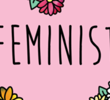 Feminist Flower Heart Sticker
