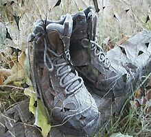 Beatn' Up Hiking Boots by CapeCodGiftShop