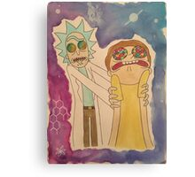 Rick & Morty Space Face Canvas Print