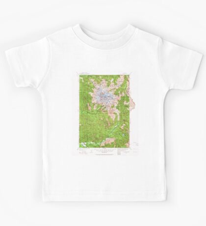 USGS Topo Map Washington State WA Mt Rainier 242664 1924 125000 Kids Tee