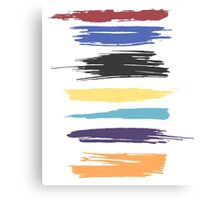 Paint Strokes Artistic Abstract Color Streaks Canvas Print
