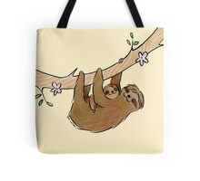 Mama and Baby Sloth Tote Bag