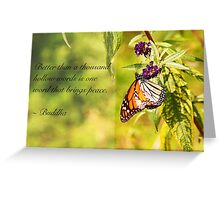 A Word of Peace (Buddha Quote) Greeting Card