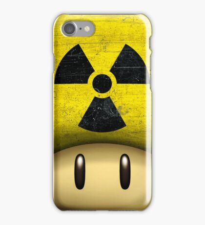 Atomic Mario's mushroom iPhone Case/Skin