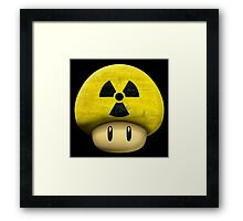 Atomic Mario's mushroom Framed Print