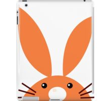 Funny easter rabbits set Illustration : orange, pink and green iPad Case/Skin