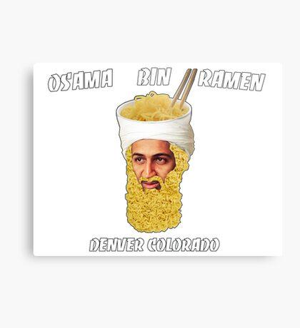 Osama Bin Ramen Metal Print