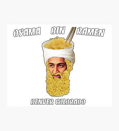 Osama Bin Ramen Photographic Print