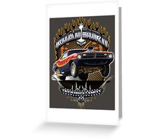 Muscle Car - Barracuda Road Burn Greeting Card