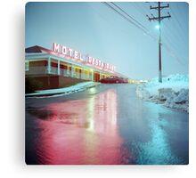 Rainy Motel Lights  Metal Print