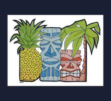 Pineapple Tiki Hut Kids Tee