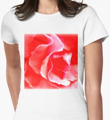 Amazing Beautiful Pink Rose Womens Fitted T-Shirt