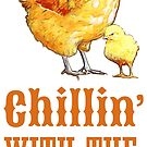 Chillin' with the Peeps Chicken by evisionarts